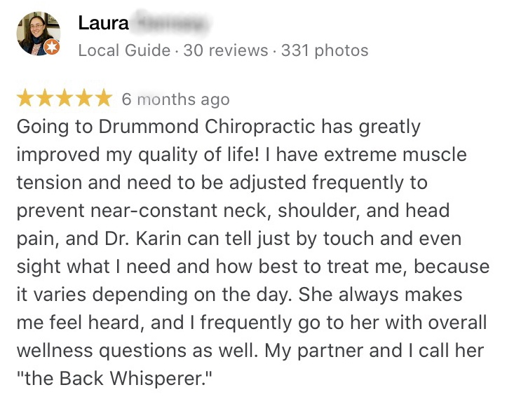 back pain review
