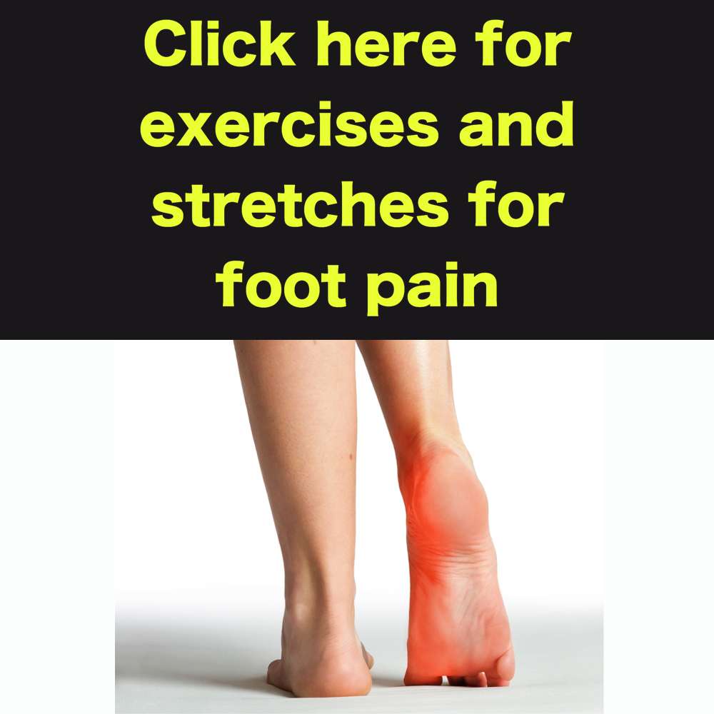 exercises and stretches for foot pain