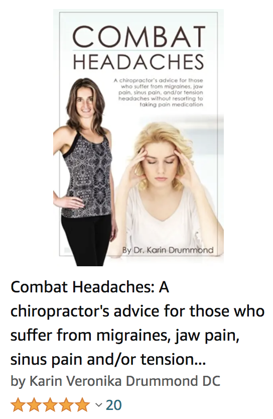 combat headaches book cover migraine chiropractor