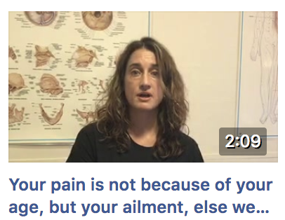 Don't blame your age for your pain