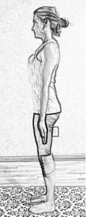 mountain pose from side for posture