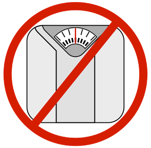 don't use the scale to watch your weight