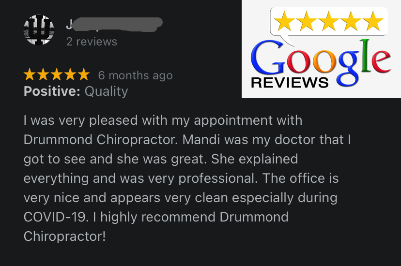testimonial as being the best chiropractor